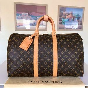 Louis Vuitton Monogram Keepall 45 Duffel Bag 💼